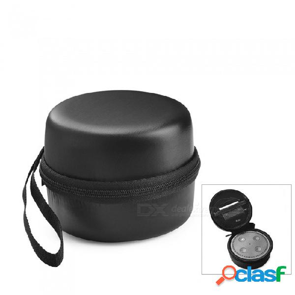 Maletín de viaje portátil a prueba de golpes eva bolsa de viaje para amazon echo dot segunda generación - negro