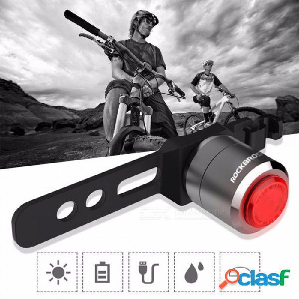 Mini linterna recargable de la luz de la cola de la bici del usb, luz trasera elegante del sensor, luz trasera trasera del ciclo del camino de la bicicleta del mtb negra