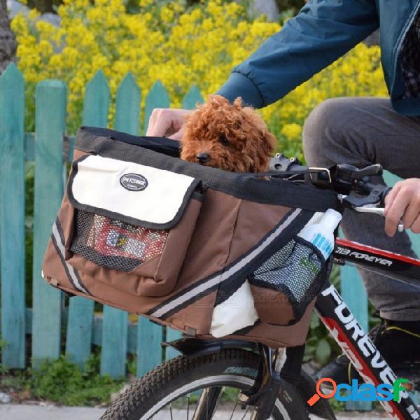 Techome venta caliente pet bicicletas portador bicicletas portátiles cesta perro cachorro perro gato para perro pequeño borgoña