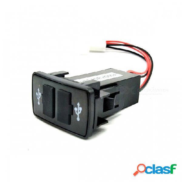 12v ~ 24v a 5v / convertidor del inversor de corriente del coche del vehículo de 2.1a 2 puerto usb 2.0 diy para honda - negro