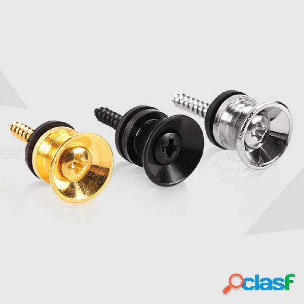 5pcs/pair guitar strap locks gold silver black guitar bass belt button buckle guitar parts accessories