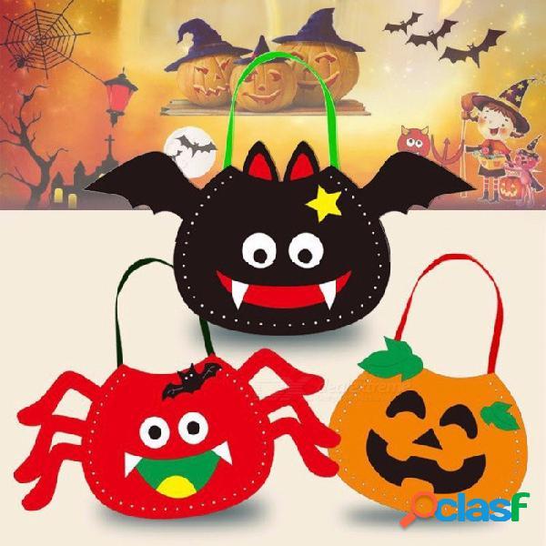 Alta calidad 1 unids / bolsa bolso de halloween bolso no tejido bolso del caramelo del regalo del niño del fantasma del festival para los niños bolsas de naranja