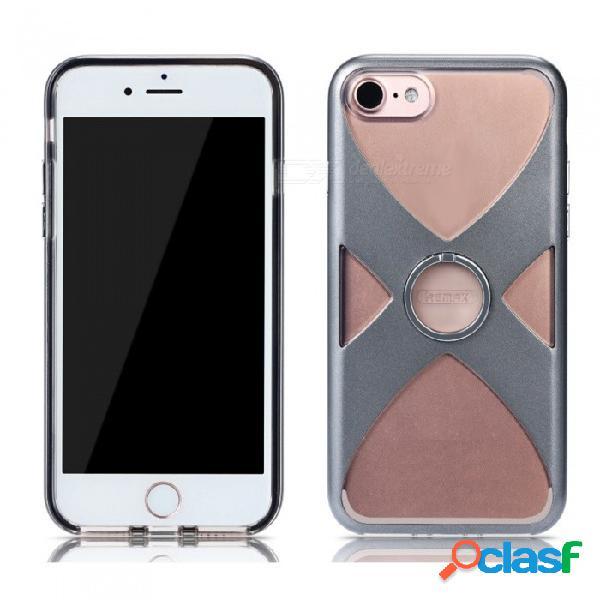 Funda protectora de estilo tpu + pc de estilo remax con soporte para anillo de dedo para iphone 7, iphone 8