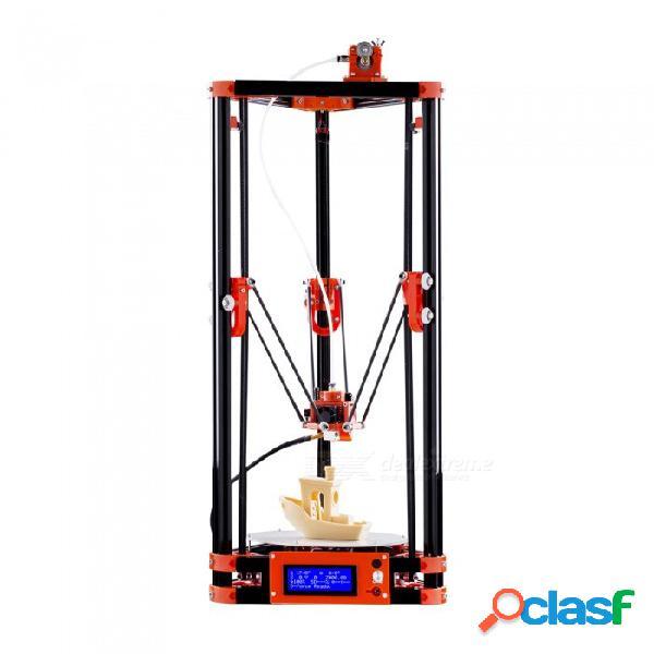 Impresora 3d flsun delta kossel kit de bricolaje con gran tamaño de impresión 3d sistema nuzzle actualizado cama nivelada automática nivelación
