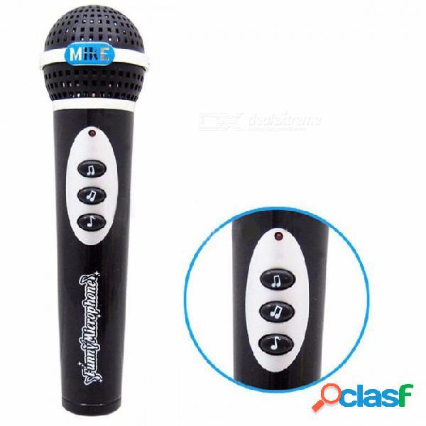Inalámbrico niños juguetes de micrófono ktv música micrófono karaoke cantar fingir divertido micrófono micrófono karaoke cantar fingir juguete negro