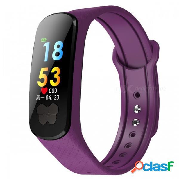 Pulsera dmdg pulsera inteligente con ecg ppg frecuencia cardíaca / monitor de presión arterial, rastreador de actividad de fitness para ios android