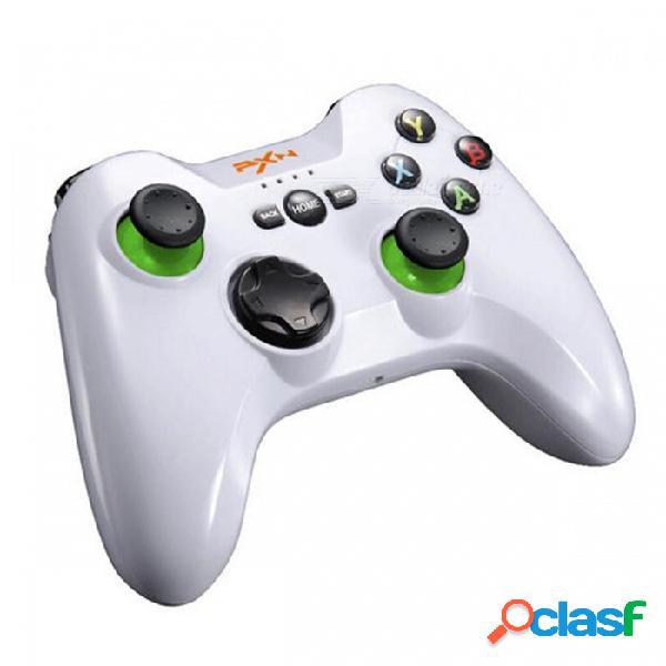 Pxn 9603 2.4ghz controlador de joystick de doble vibración inalámbrico gamepad para ps3 teléfonos android tablet pc - blanco