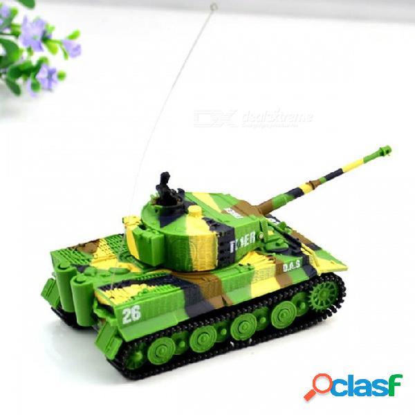 1:72 alto vívido simulado gran pared rc tanque de juguete de control remoto para niños - verde claro