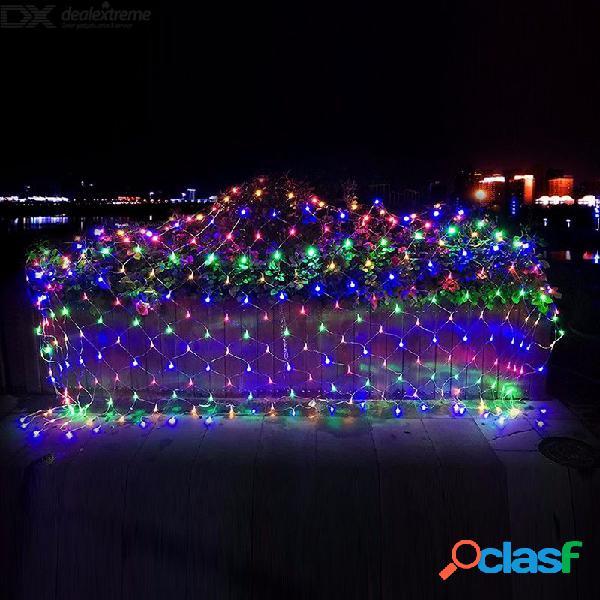 6x4 m red de pesca al aire libre 880 led luces del cielo estrellado a prueba de agua 220 v fiesta de boda decoración de navidad luces de la ue enchufe
