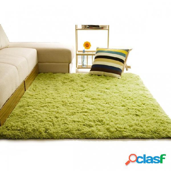Alfombra peluda suave para sala de estar hogar europeo cálido alfombras de piso de felpa esteras mullidas sala de niños área de piel sintética alfombra estera