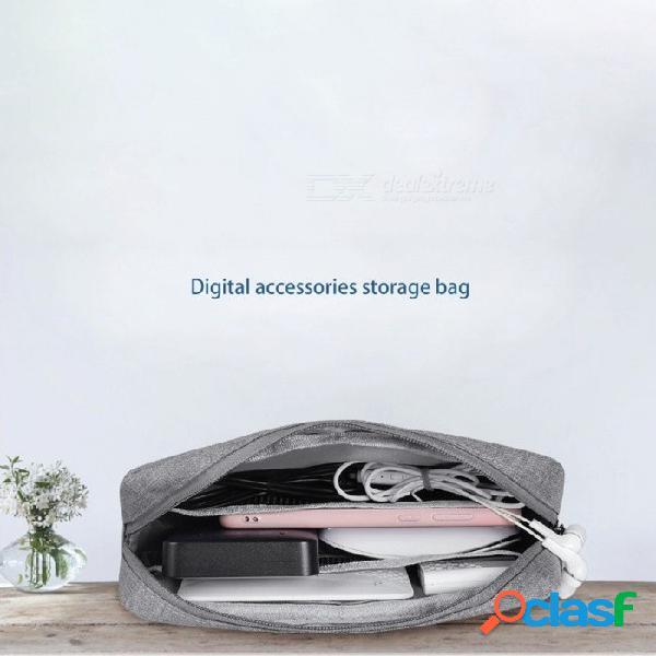 Bolso Organizador De Cable De Viaje Oxford Resistente E Impermeable, Bolsa De Almacenamiento De Gran Capacidad Portátil Para Dispositivo Digital Negro