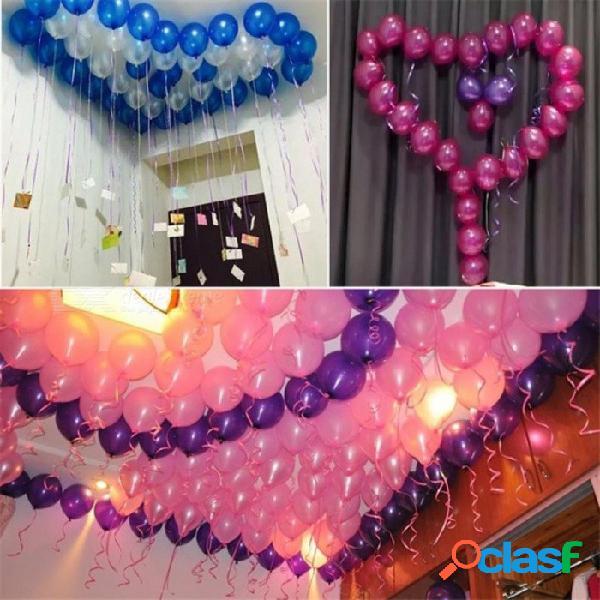 Globos de oro 10 unids 12 pulgadas de espesor 2.8g globos de helio de látex decoración de la boda inflable bolas de aire suministros de la fiesta de cumpleaños rosa