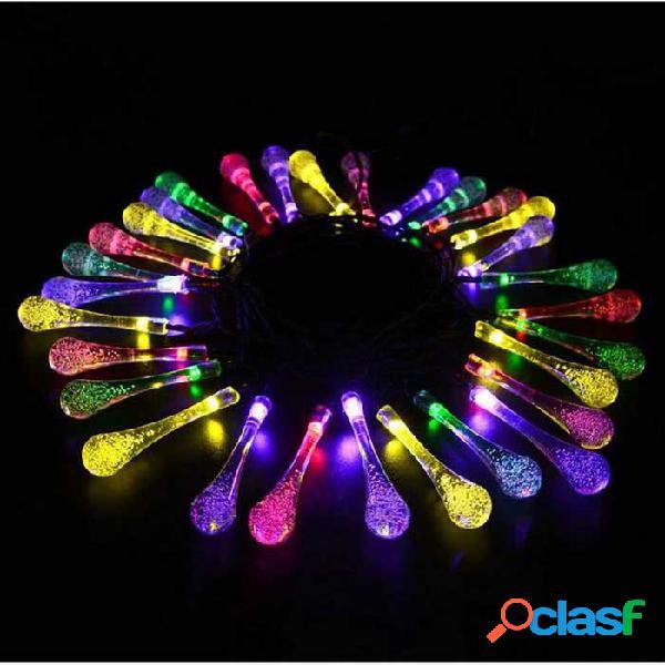 Luces de césped para exteriores tipo p-top led, estilo de gotitas de agua, luces de césped al aire libre (4.8m)