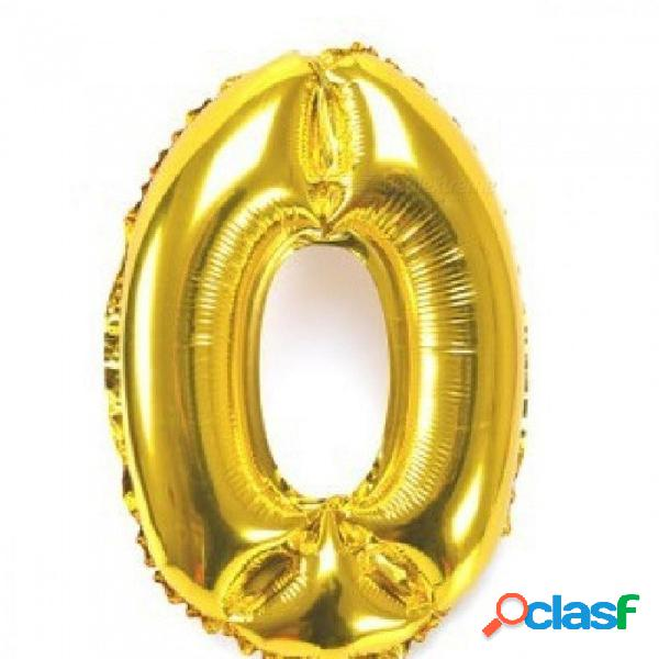Número dorado de plata de 32 pulgadas globos de aluminio dígitos globo de aire feliz cumpleaños decoración de la boda carta globo evento fuentes del partido oro
