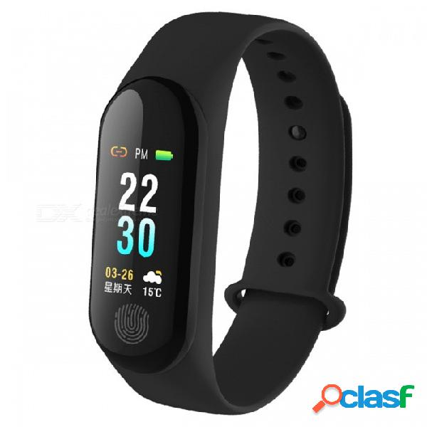 Pulsera inteligente dmdg con presión arterial. / monitor de ritmo cardíaco, pantalla a color ip67 pulsera de rastreador de fitness a prueba de agua