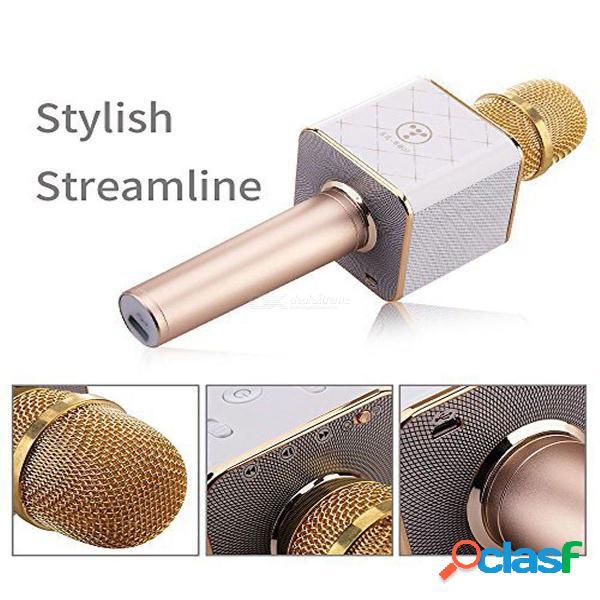 Q7 micrófono inalámbrico original para karaoke con altavoz bluetooth y dos altavoces con estuche y reducción activa de ruido