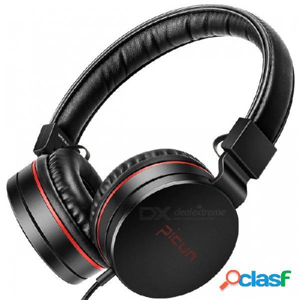 Sonido intono c18 ajustable sobre las orejas auriculares con cable de alta fidelidad de sonido auriculares estéreo - negro