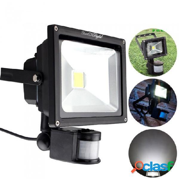 Youoklight 10w led luz diurna reflector blanco frío, sensor de movimiento pir reflector, lámpara de seguridad exterior impermeable