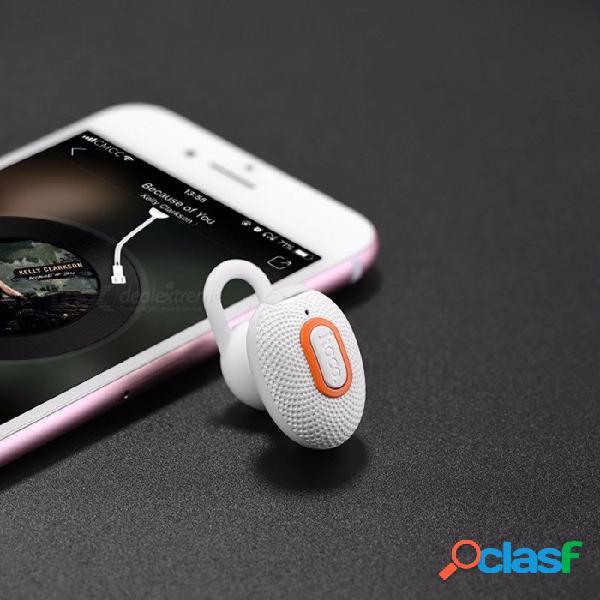 Auricular bluetooth inalámbrico de los deportes del mini hoco e28, auricular de los auriculares bluetooth de la moda con el mic para el teléfono móvil blanco