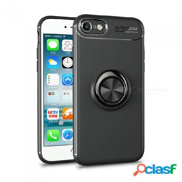 Cubierta protectora de silicona para la parte trasera de xsuni con anillo de magnetismo para iphone 7