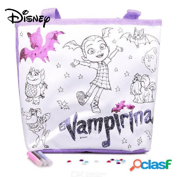 Disney disney vampirina bolsa para colorear para niños, personaje de disney colorea tu propia bolsa de mano