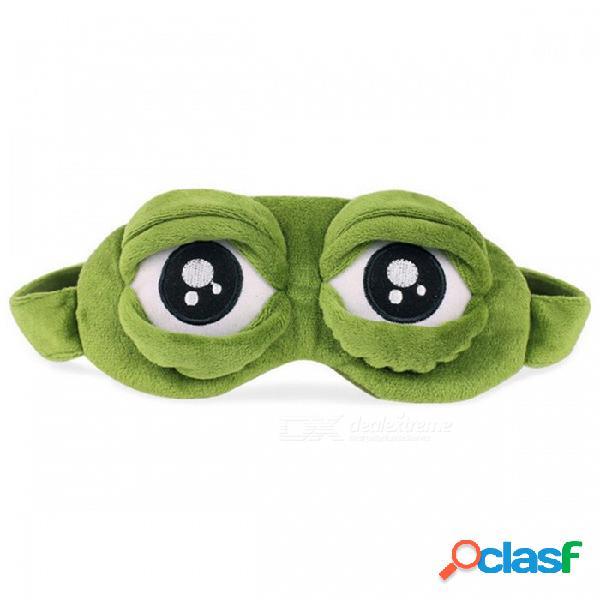 Divertida máscara de sueño de rana triste 3d, descanso, descanso, ayuda para dormir venda para los ojos, parche en el ojo para cubrir el hielo