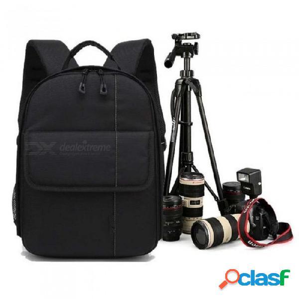 Impermeable digital dslr foto mochila acolchada cubierta de la lluvia bolsa de la bolsa wt-3110a trípode cámara de fotos soporte con clip de teléfono