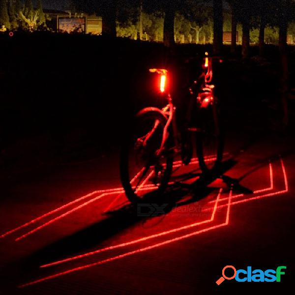 Luz trasera trasera recargable con láser usb, luz trasera de la lámpara de bicicleta, luz roja de ciclismo led luz de advertencia de seguridad led roja