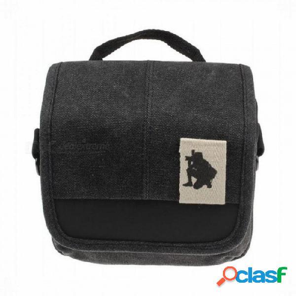 Slr digital sling bolso de la cámara mochila bandolera para canon nikon sony para olympus fuji camera bag gris
