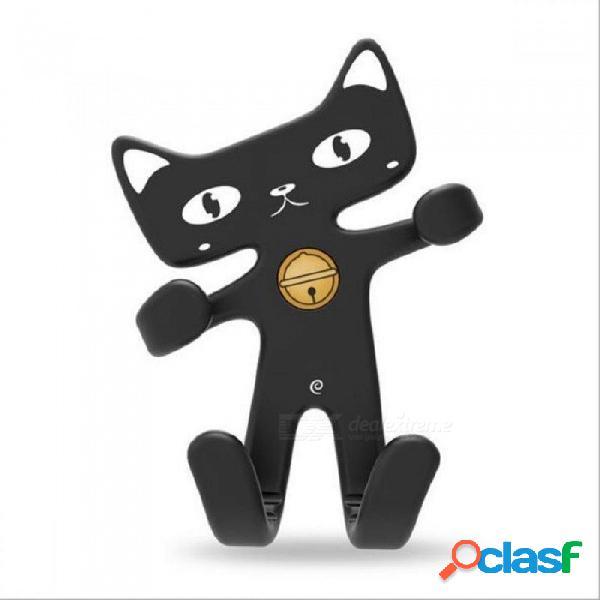 Soporte de coche del gato del caucho suave flexible soporte lindo del aire del soporte del teléfono del sostenedor del teléfono del silicón del sostenedor del teléfono del coche universal neg