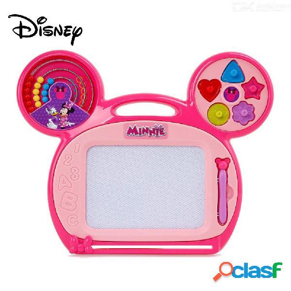 Tablero de dibujo magnético de disney minnie mouse cartoon, lindo tablero de doodle borrable para niños