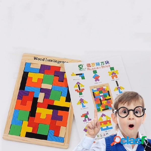 Variedad de cajas rompecabezas de madera rompecabezas de color bloques de construcción rompecabezas juguetes desarrollan inteligencia multicolor