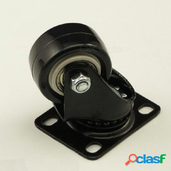 4 unids negro silla giratoria ruedas de goma industriales universales ruedas de freno ruedas giratorias universal del echador de los muebles