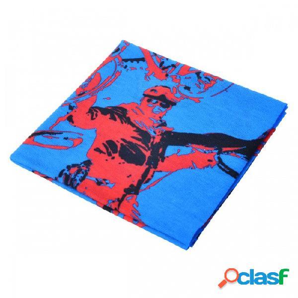 Deportes al aire libre lxhl-909 multifunción cabeza transparente poliester bufanda - azul (tamaño libre)
