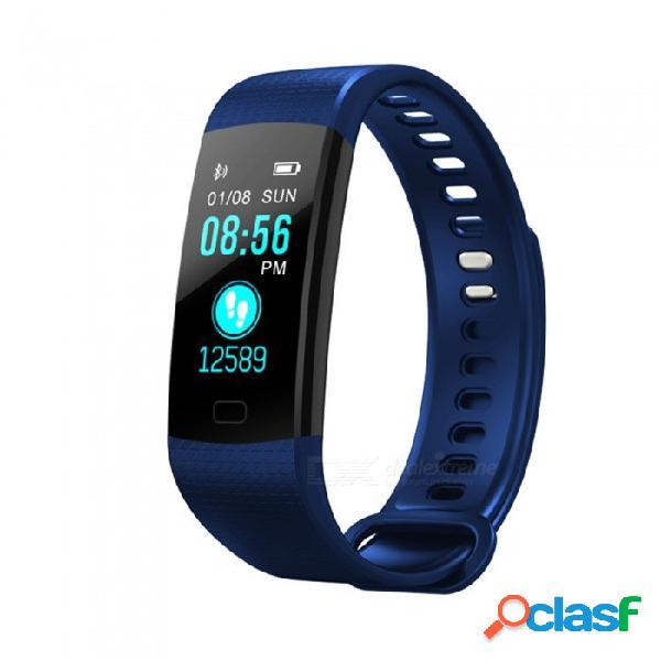 Pulsera de bluetooth inteligente con pantalla a color y5 con presión arterial de frecuencia cardíaca / monitoreo de oxígeno en tiempo real