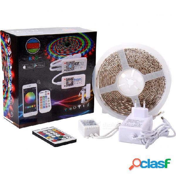 Brg premium smd5050 rgb kit de tiras de luz led con controlador de ir de 24 teclas direccionables y fuente de alimentación