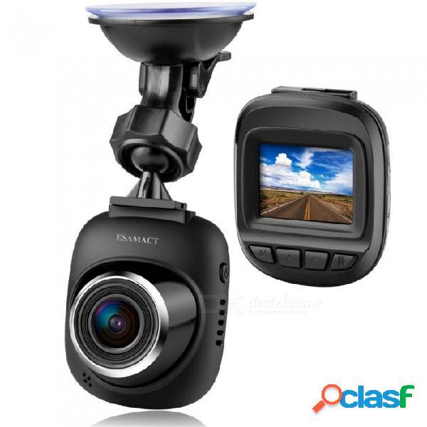 Esamact mini lcd grabadora de cámara dvr con fhd 1080p, visión nocturna, grabación en bucle para automóviles