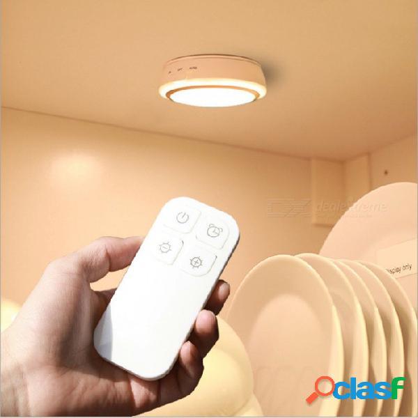 Luz nocturna de control remoto inalámbrico portátil recargable con led p-top, lámpara de luz de armario de gabinete - blanco