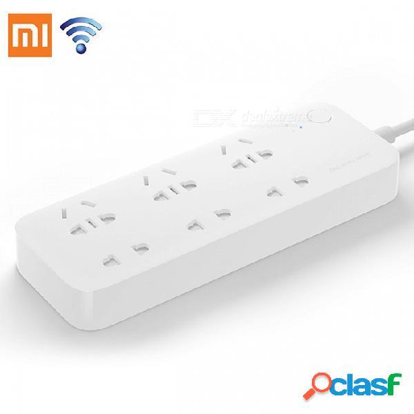 Original xiaomi mijia smart power strip 2500w inteligente de 6 puertos socket wifi control remoto inalámbrico + adaptador de la ue