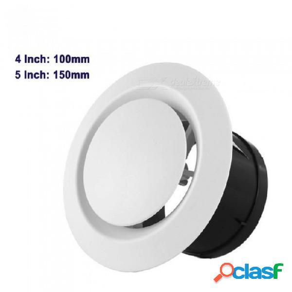 Salida de aire de abs ajustable salida de sofito ventilación de escape blanca conducto en línea ventilador salida de ventilación de 4 pulgadas / tamaño de 6 pulgadas 4 pulgadas 100 mm