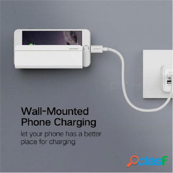 Ugreen soporte de pared universal soporte de carga de la tableta del teléfono para ipad iphone x 8 7 plus samsung xiaomi cargador socket hogar 6 s blanco