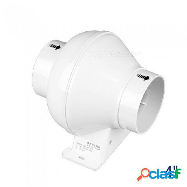 Ventilador de ducto en línea de 4 pulgadas tubo de plástico extractor de aire mini ventilador de ventilación para baño ventilador de techo 100 mm con color blanco blanco