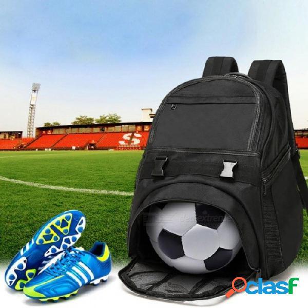 Balones de fútbol bolsas de entrenamiento bolsa de entrenamiento profesional de baloncesto gimnasio mochila bolsa de bolas de color azul impermeable negro durable azul