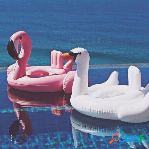 Bebé nadar flotar asiento de bebé flotar inflable flamenco cisne flotador de piscina bebé verano agua diversión piscina juguete niños nadar rosa