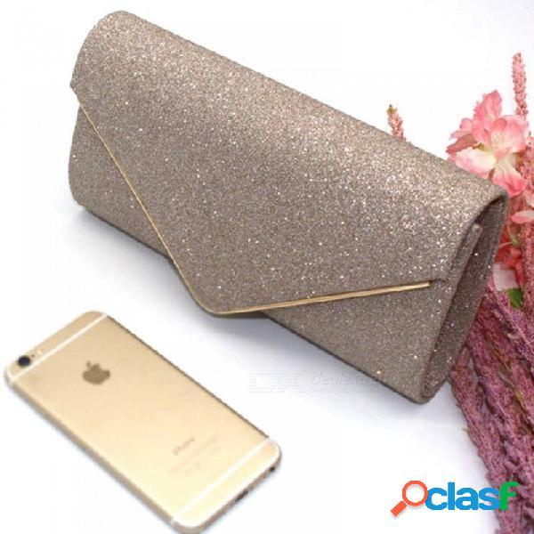 Bolso de noche de mujer bolso de diamantes de imitación de diamantes de cristal embrague día monedero de la boda del banquete de boda bolsas de mano negro plata plata