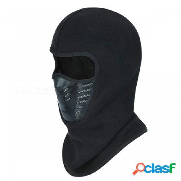 Invierno cubierta facial completa forro polar forrado cálido a prueba de viento antipolvo máscara de esquí pasamontañas capucha de goma respirable ventilación