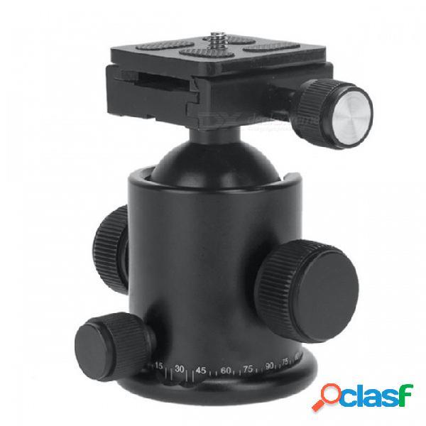 Ks-1 universal 360 grados que giran trípode rotula w / placa de liberación rápida para cámaras réflex - negro