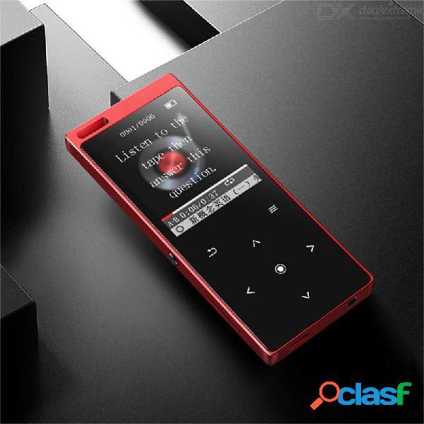 Mk3 bluetooth 4.0 reproductor de mp4 con botón táctil de altavoz reproductor de música de alta fidelidad sin pérdida de 8gb con reproductor de video de radio fm de libro electrónico