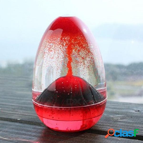 Movimiento líquido reloj de arena, reloj de arena volcánico creativo, decoración del hogar artesanía de vidrio ornamento arena temporizador regalo de navidad rojo / m