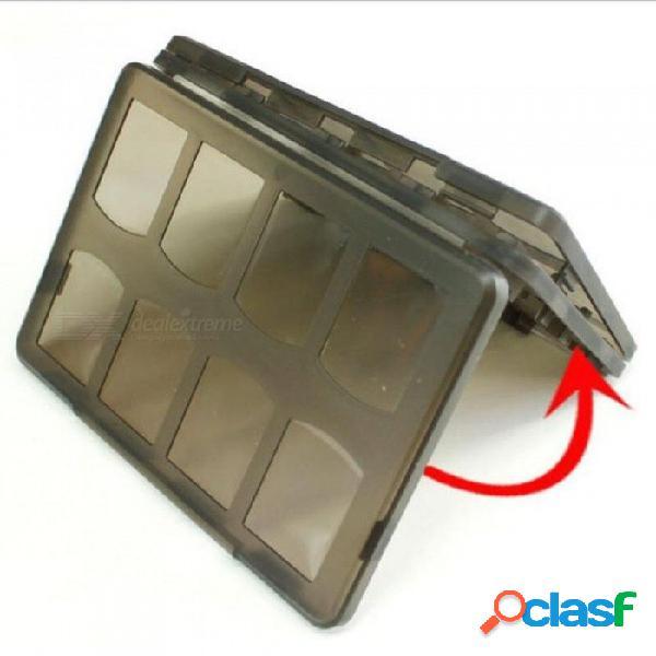 20 en 1 de plástico duro juego de tarjetas de memoria de almacenamiento caja de la caja de protección para sony playstation psvita ps vita psv 1000 2000 plástico delgado